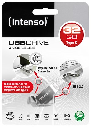 INTENSO CMOBILE LINE USB STICK 32GB 3536480 70MB/s USB 3.0 type C