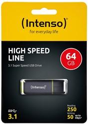 INTENSO HIGH SPEED LINE USB STICK 64GB 3537490 50MB/s USB 3.1 black