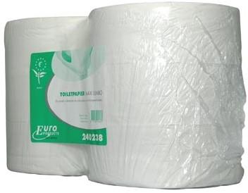 Europroducts toiletpapier Maxi Jumbo 2-laags 380 meter eco pak van 6 rollen