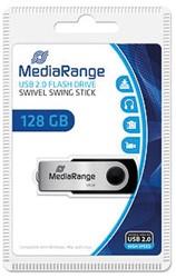 MEDIARANGE FLEXI USB STICK 128GB MR913 15MB/s USB 2.0 black-silver