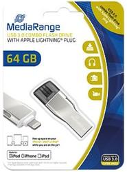 MEDIARANGE USB STICK 64GB MR983 90Mb/s USB 3.0 silver