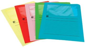 A4 (22x31 cm) Uit karton van 120 g/m2                    Geassorteerde kleuren