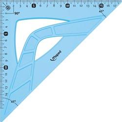 Maped winkelhaak onbreekbaar 26 cm, 45°, blauw