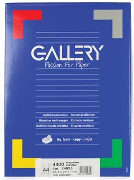 Gallery universele etiketten  48,3 x 25,4mm 44 etiketten per vel