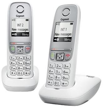 Gigaset A415 DECT draadloze telefoon met extra handset wit