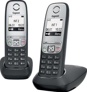 Gigaset A415 DECT draadloze telefoon met extra handset zwart