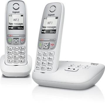 Gigaset A415 DECT draadloze telefoon met antwoordapparaat met extra handset wit