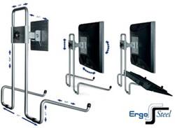 R-Go ErgoSteel Flex+ monitorstandaard