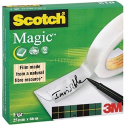 Scotch® plakband Magic  Tape ft 25 mm x 66 m