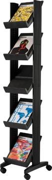 Folderrek met 5 legplanken Corner Compact zwart