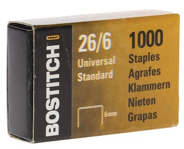 Bostitch nietjes 6 mm, verzinkt