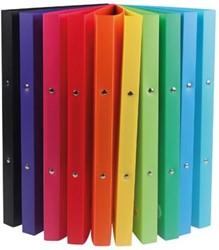 A4 plastic ringband 2 ringen in geassorteerde kleuren