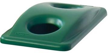Deksel met gaten voor Slim Jim afvalbak groen
