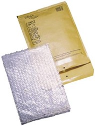 Grote Luchtkussen enveloppen 270 x 360 mm bruin met plakstrip pk/10 stuks
