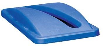 Deksel met sleuf voor papier voor Slim Jim afvalbak blauw