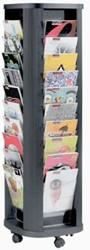 Foldercarrousel voor 40 folders op wielen
