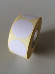 Etiket 35 mm rond wit 1000/rol