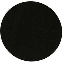 Etiket 35 mm rond zwart 1000/rol