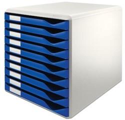 Leitz ladekasten 10 laden lichtgrijs/blauw