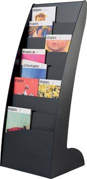 Folderrek staand met 8 brede vakken Exposito Courbo