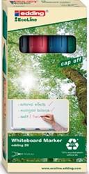 Edding Whiteboardmarker Ecoline e-28 etui van 4 stuks in geassorteerde kleuren