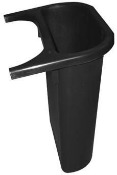 Rubbermaid zijbakje 4,5 l zwart