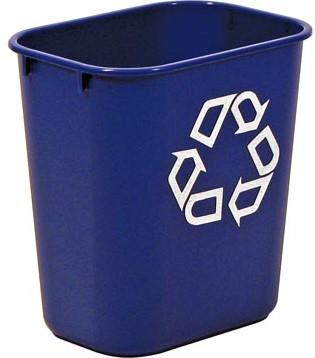 Papierbak Rubbermaid blauw 26,6 liter
