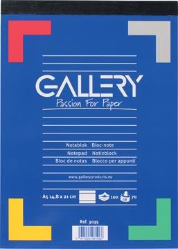 Gallery schrijfblok A5 gelinieerd 100 vel