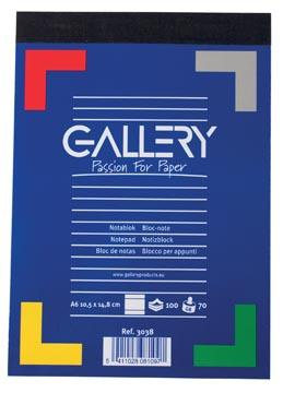Gallery schrijfblok A6 gelinieerd 100 vel