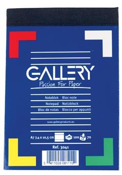 Schrijfblok A7 gallery gelinieerd 100 vel