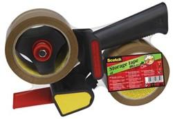 Scotch taperoller met 2 rollen bruine verpakkingstape