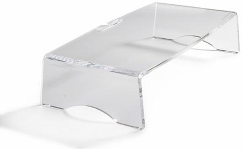 BNEQR90 BAKKER Q-riser 90 monitor stand 15kg single transparent