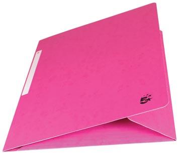5Star Elastomap met kleppen roze