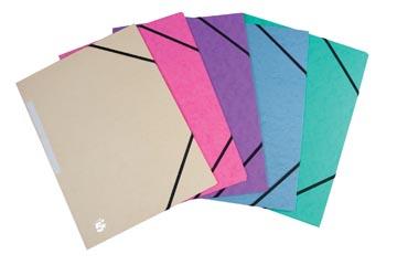 5Star Elastomap met kleppen geassorteerde pastelkleuren