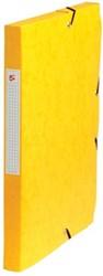 5Star Elastobox rug 2,5 cm geel
