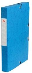 5Star Elastobox rug 4 cm blauw