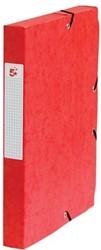 5Star Elastobox rug 4 cm rood