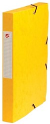 5Star Elastobox rug 4 cm geel