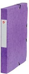 5Star Elastobox rug 4 cm paars