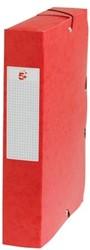 5Star Elastobox rug 6 cm rood
