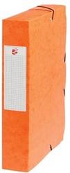 5Star Elastobox rug 6 cm oranje
