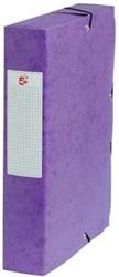 5Star Elastobox rug 6 cm paars