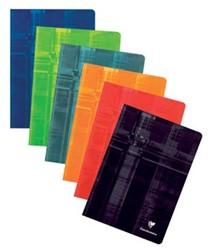 Clairefontaine schrift ft A4, 120 bladzijden, geruit 5mm, geniet, geassorteerde kleuren