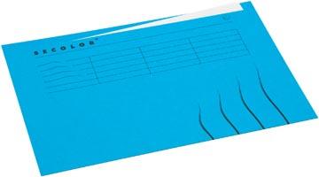 Jalema Dossieromslag Secolor voor ft A4 (22,5 x 31 cm), blauw, met tabrand