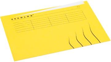 Jalema dossieromslag Secolor voor ft A4 (22,5 x 31 cm), geel, met tabbrand