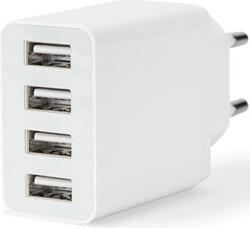 Ednet wandoplader met 4 USB-poorten