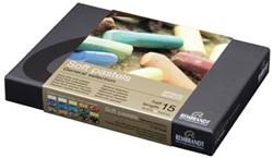 Talens Pastel Rembrandt starterset met 15 halve soft pastels