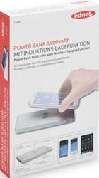 Ednet powerbank 8000 mAh met inductie-oplaadfunctie
