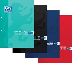 Oxford cursusblok commercieel geruit, met blauwe marge