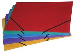 Class'ex Elastomap folio met kleppen geassorteerde kleuren